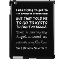 90's Anime Nerd Shirt on Black iPad Case/Skin