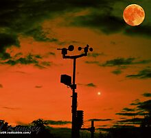 Southwater Weather Station At Sunset by Paul Rumsey
