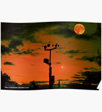 Southwater Weather Station At Sunset Poster