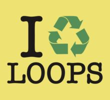 I Recycle Loops Kids Tee