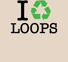 I Recycle Loops Womens Fitted T-Shirt