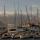 Boats in Simonstown Harbour, South Africa by davridan