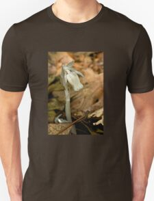 Indian Pipe Wildflower and Fungus Gnat - Monotropa uniflora T-Shirt