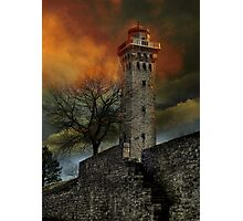 Fiery Tower Photographic Print