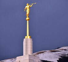 Moroni Atop Draper Temple by Ryan Houston
