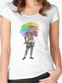 Rainbow Cat Women's Fitted Scoop T-Shirt