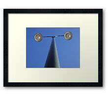 First One to Blink Loses! (T) Framed Print