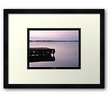 Serenity at sunset Framed Print