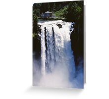 Snoqualmie Falls in Spring Greeting Card