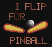 "Cold weather wear ""I FLIP FOR PINBALL"" by Sharon Murphy"