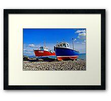 Fishing boats at beer Framed Print