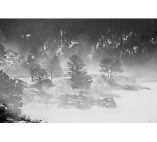Boulder Canyon Meets Nederland  BW Landscape Photographic Print