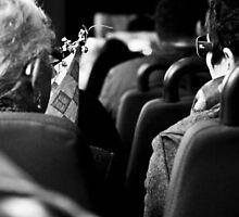 Chatting women on the bus by Bojana  Stankovic