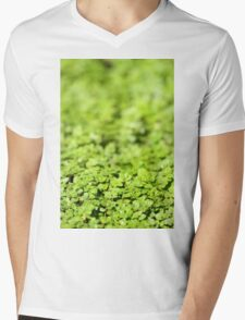 Green Mens V-Neck T-Shirt