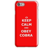 Keep Calm and Obey Cobra iPhone Case/Skin
