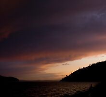 Anacortes Island and Burrows Bay Sunset by Stacey Lynn Payne
