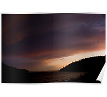 Anacortes Island and Burrows Bay Sunset Poster