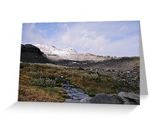 Glacial stream Greeting Card