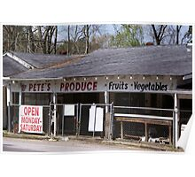Pete's Produce Poster