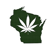 Marijuana Leaf Wisconsin Photographic Print