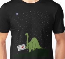 I believe in you, Pluto! Love, Brontosaurus Unisex T-Shirt