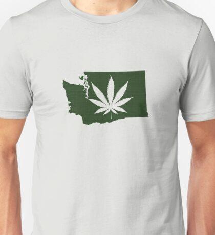 Marijuana Leaf Washington Unisex T-Shirt