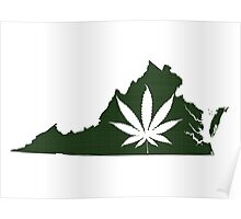 Marijuana Leaf Virginia Poster