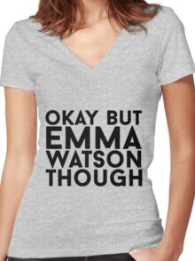 Emma Watson Women's Fitted V-Neck T-Shirt