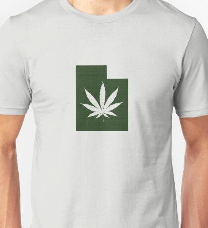 Marijuana Leaf Utah Unisex T-Shirt