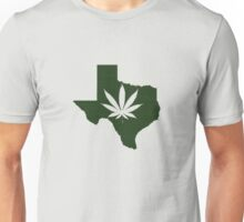 Marijuana Leaf Texas Unisex T-Shirt