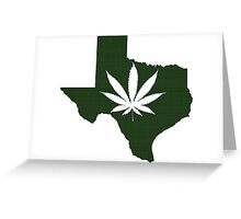 Marijuana Leaf Texas Greeting Card
