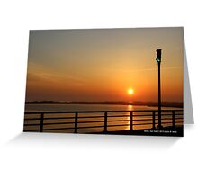 A Green Light For Sunset | Shirley, New York  Greeting Card