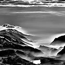 Garda and Molveno Lakes - BW by Antonio Zarli