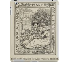 Kate Greenaway Collection 1905 0039 Book PLate for Lady Victoria Herbert iPad Case/Skin