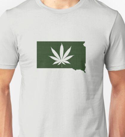 Marijuana Leaf South Dakota Unisex T-Shirt