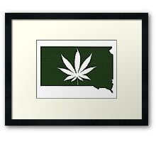 Marijuana Leaf South Dakota Framed Print