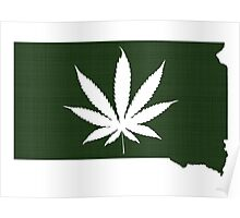 Marijuana Leaf South Dakota Poster