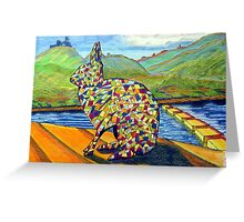 303 - MOSAIC BUNNY - DAVE EDWARDS - COLOURED PENCILS & INK - 2010 Greeting Card