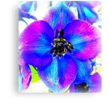 Delphinium Flower Canvas Print