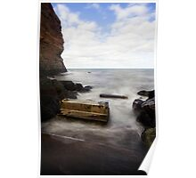 The old slipway at Staithes Poster