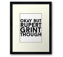 Rupert Grint Framed Print
