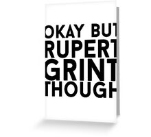 Rupert Grint Greeting Card