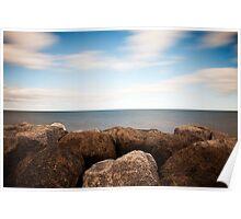 Rock, Water, Sky Poster
