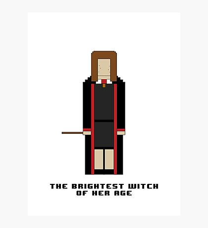 Hermione Granger 'The Brightest Witch of Her Age' 8-bit Photographic Print