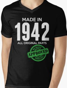 Made In 1942 All Original Parts - Quality Control Approved Mens V-Neck T-Shirt