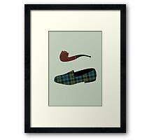 Pipe and Slippers Framed Print