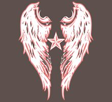 Angel Wings Wht Womens Fitted T-Shirt