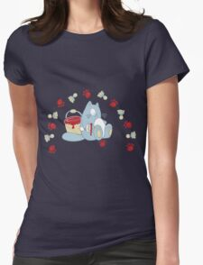 Jolly painting cat Womens Fitted T-Shirt