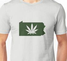 Marijuana Leaf Pennsylvania Unisex T-Shirt