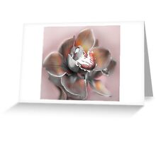 Frannie Moore in Orchid Greeting Card